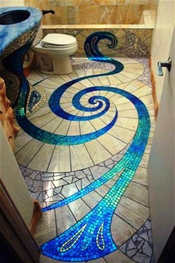 Mosaque salle de bain merveilleuse et crative
