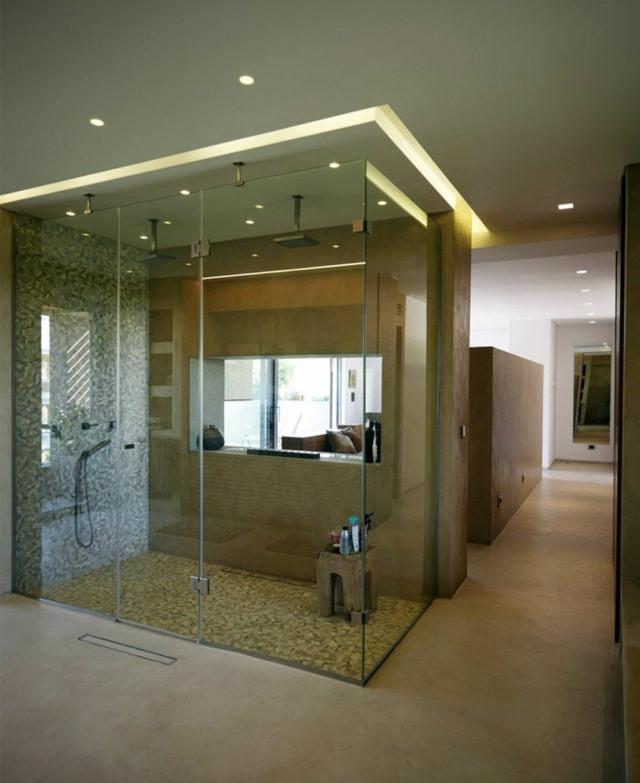 La douche  litalienne le choix branch pour la salle de