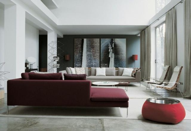 burgundy sofa and loveseat ivory furniture idées déco salon - 23 salons luxueusement décorés