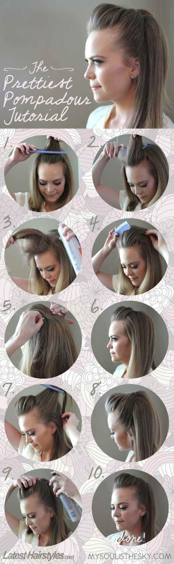 40 idees coiffure faciles a faire en 10