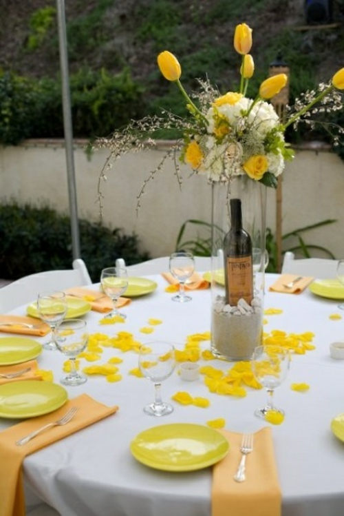 53 ides dcoration table mariage printemps original
