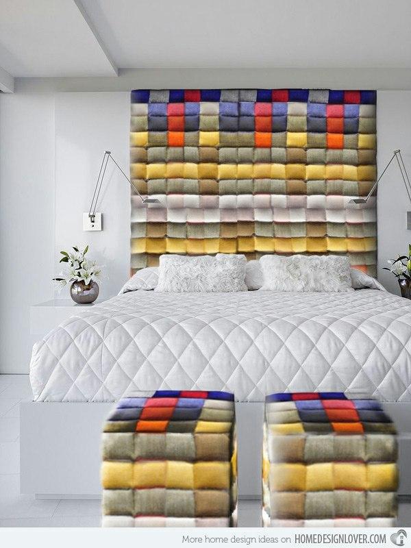 coucher avec une tete de lit originale