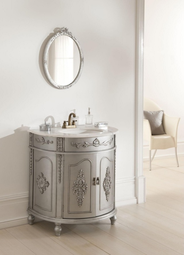 Meuble sous lavabo de style classique en 25 belles photos