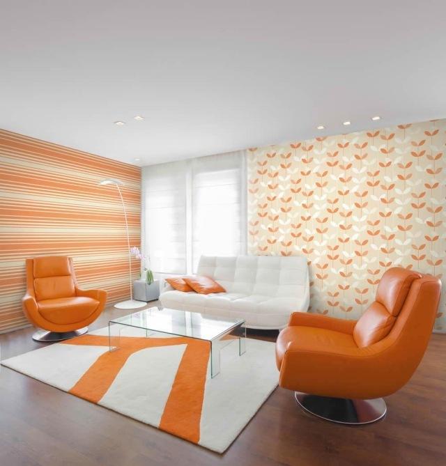 Papier peint intiss  25 designs originaux pour le salon