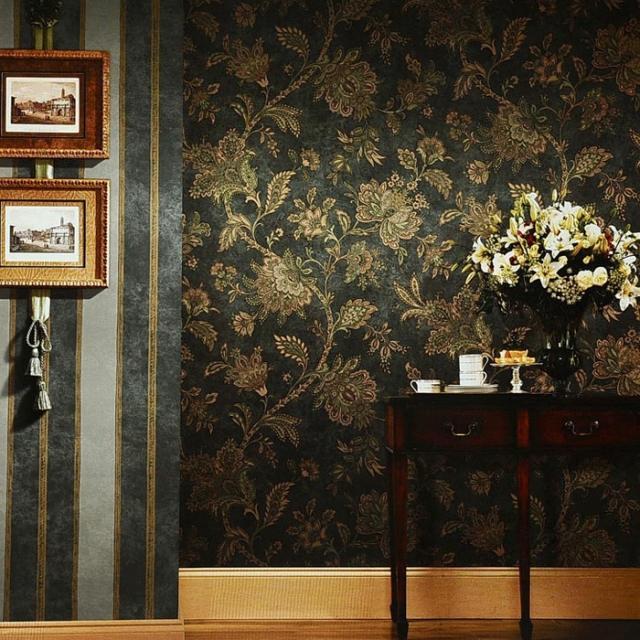 Papier peint vintage  motifs floraux en 25 ides fantastiques