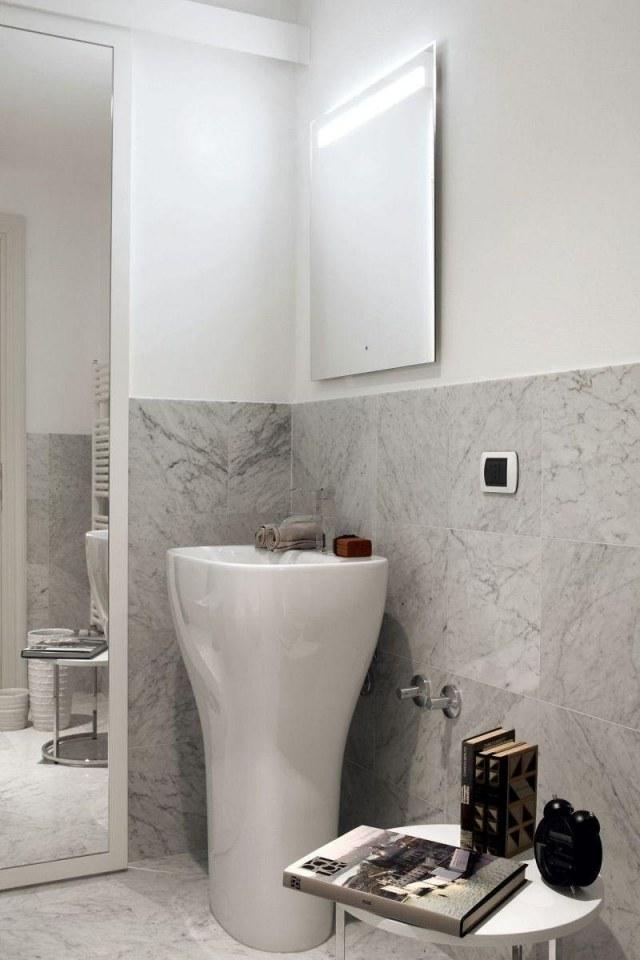 Peinture salle de bains  24 ides de murs en deux couleurs