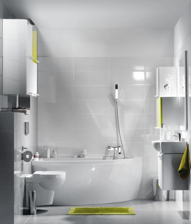 peinture-salle-bains-petite-blanche-accents-vert-pâle-mobilier-blanc