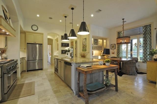 table cuisine marbre