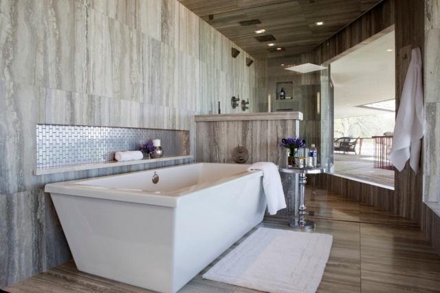 Salle de bains design naturel  25 ides en belles photos