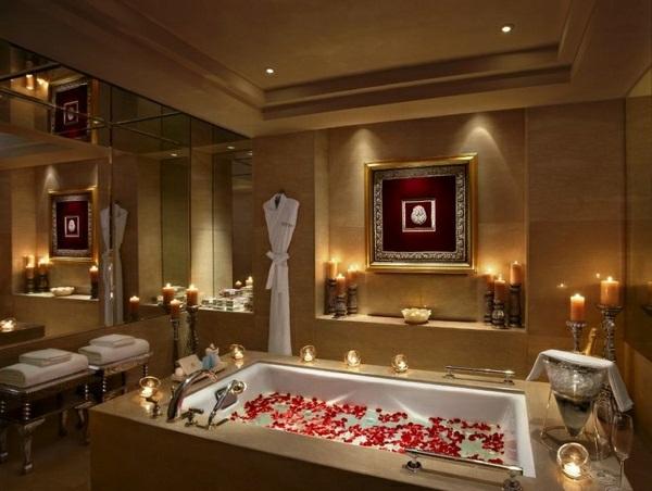 Ide romantique Saint Valentin  dcorez votre salle de bain
