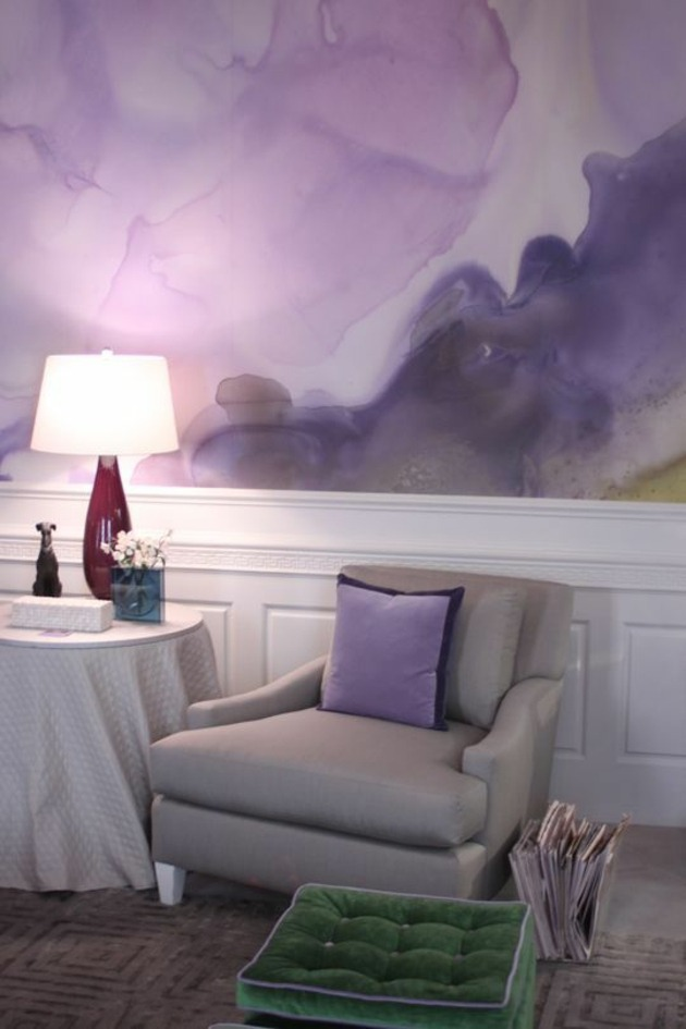 La dcoration aquarelle pour mur se rajeunit