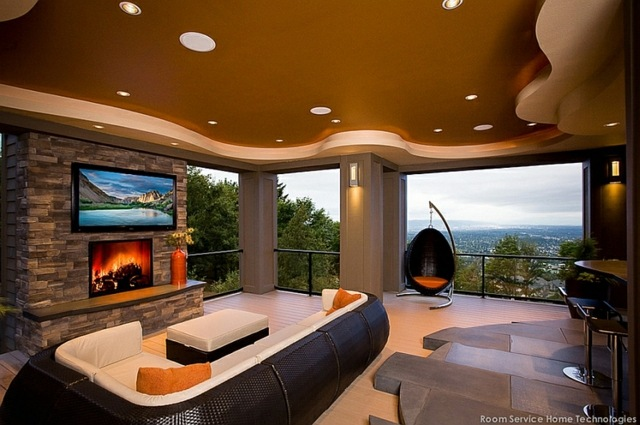 living room ideas with tv and fireplace broyhill mckinney set télé montée au-dessus de la cheminée, une mode récente