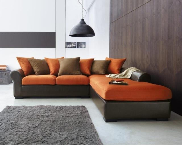 Beautiful Tapis Salon Orange Et Marron Ideas - House Design ...