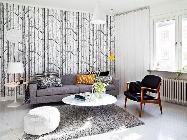 tapis gris salon qui rend l atmosphere