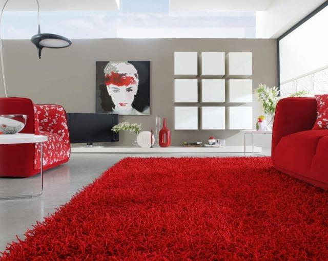 Le tapis poil long  un accessoire chaleureux et moderne