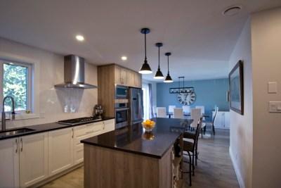 Rénovation complète Rez-de-chaussée Cuisine salle à manger et Salon Transitionnel Chambly 1
