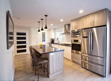Rénovation complète Rez-de-chaussée Cuisine salle à manger et Salon Transitionnel Chambly 3