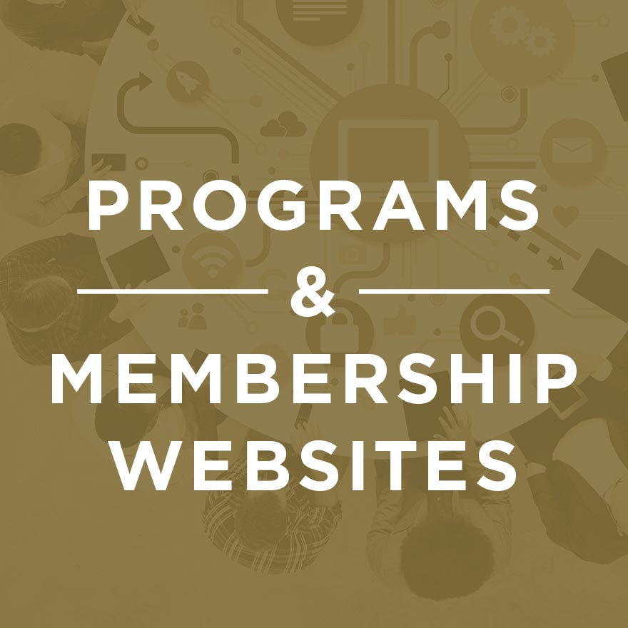 Program Sales Page & Membership Website Portfolio