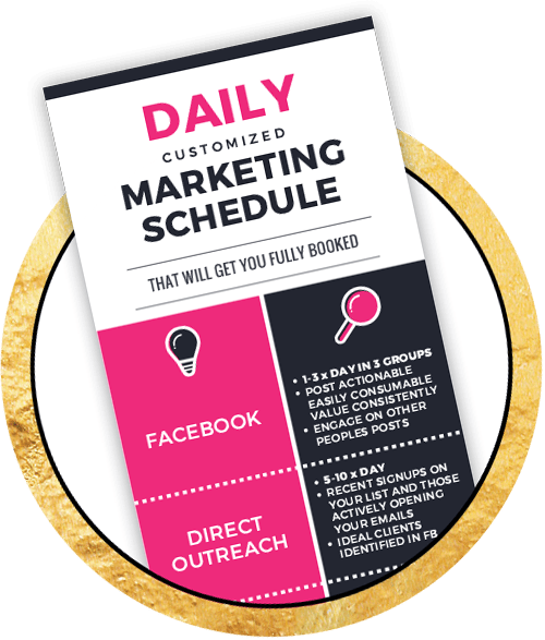 Christina Jandali Daily marketing schedule graphic