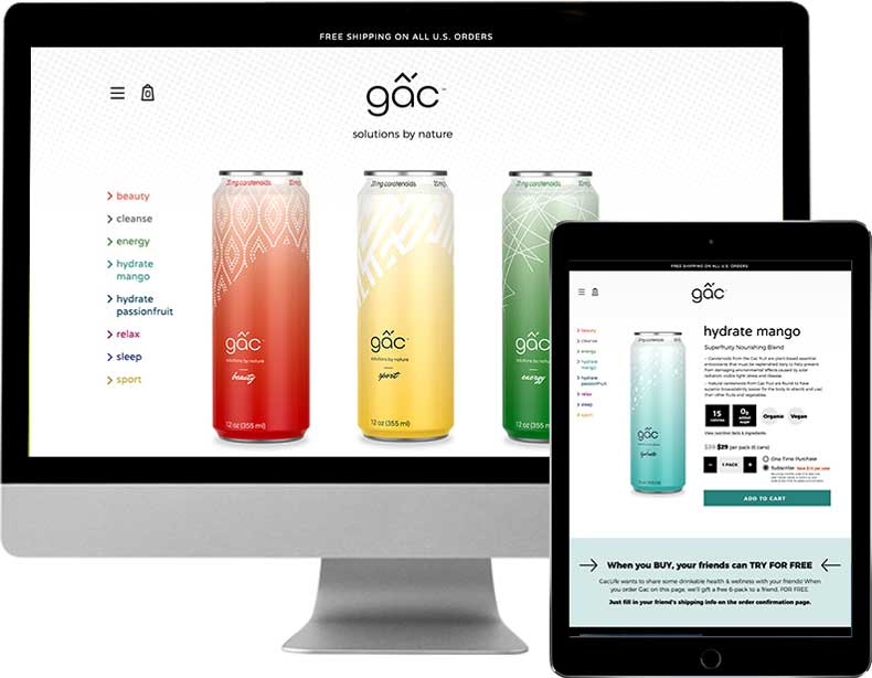 Gac e-commerce website