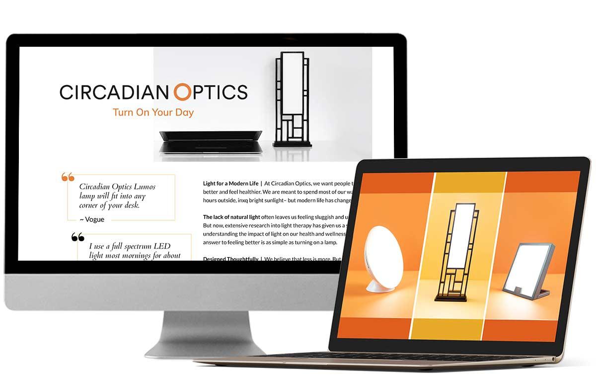 Portfolio Design Mastermind Circadian Optics Amazon Page Design