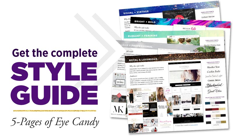 Get the COMPLETE Style Guide! That's 5 Pages of Eye Candy
