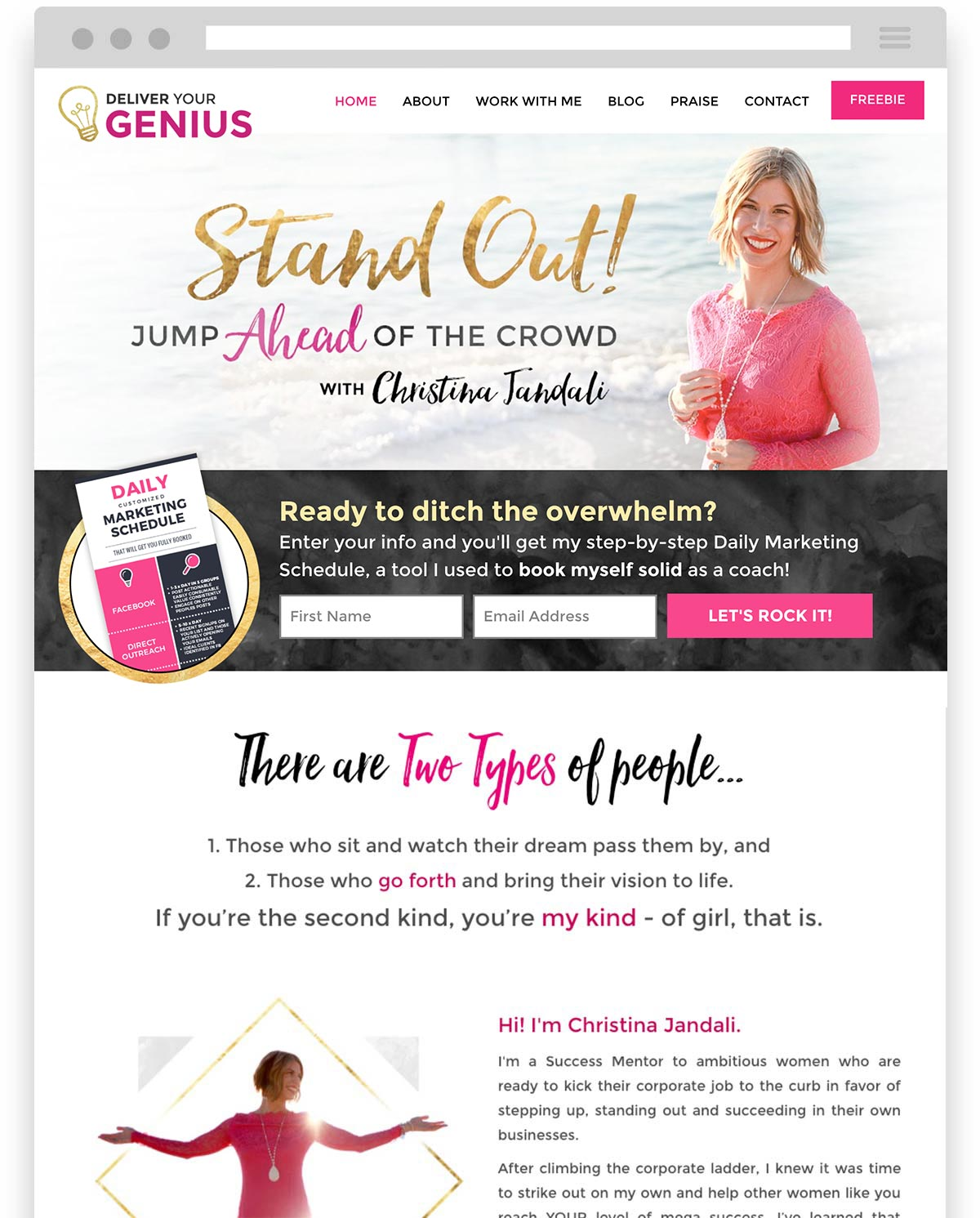 Christina Jandali Deliver your Genius website