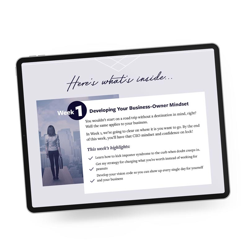 Sales page design by Laura Patricelli Design Mastermind