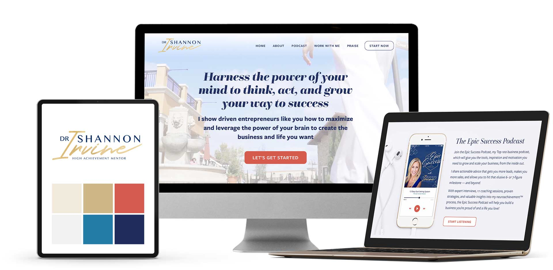 Website redesign, sales pages & social media graphics for mindset coach