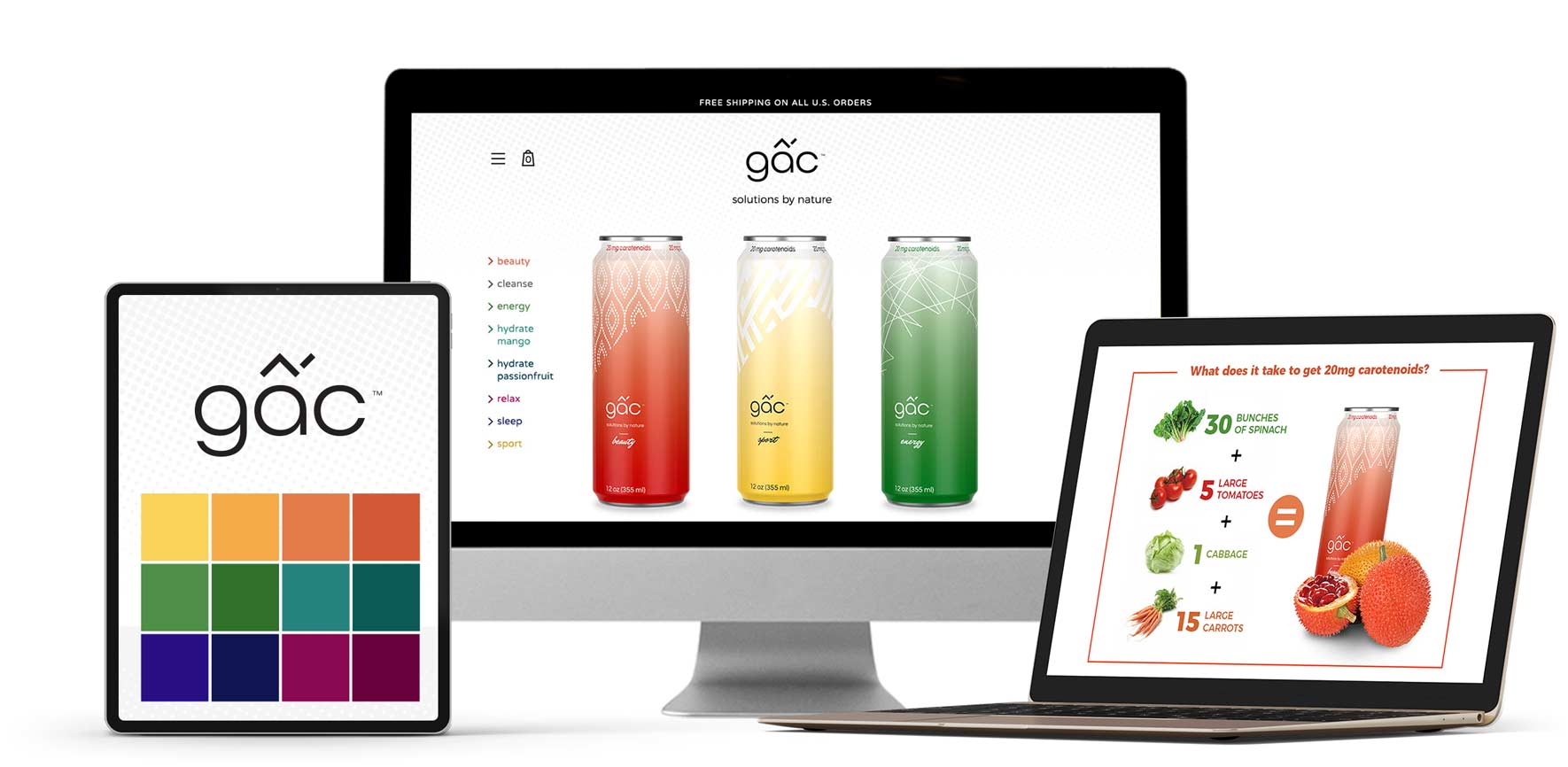 Branding & eCommerce design for Gac sports drink company