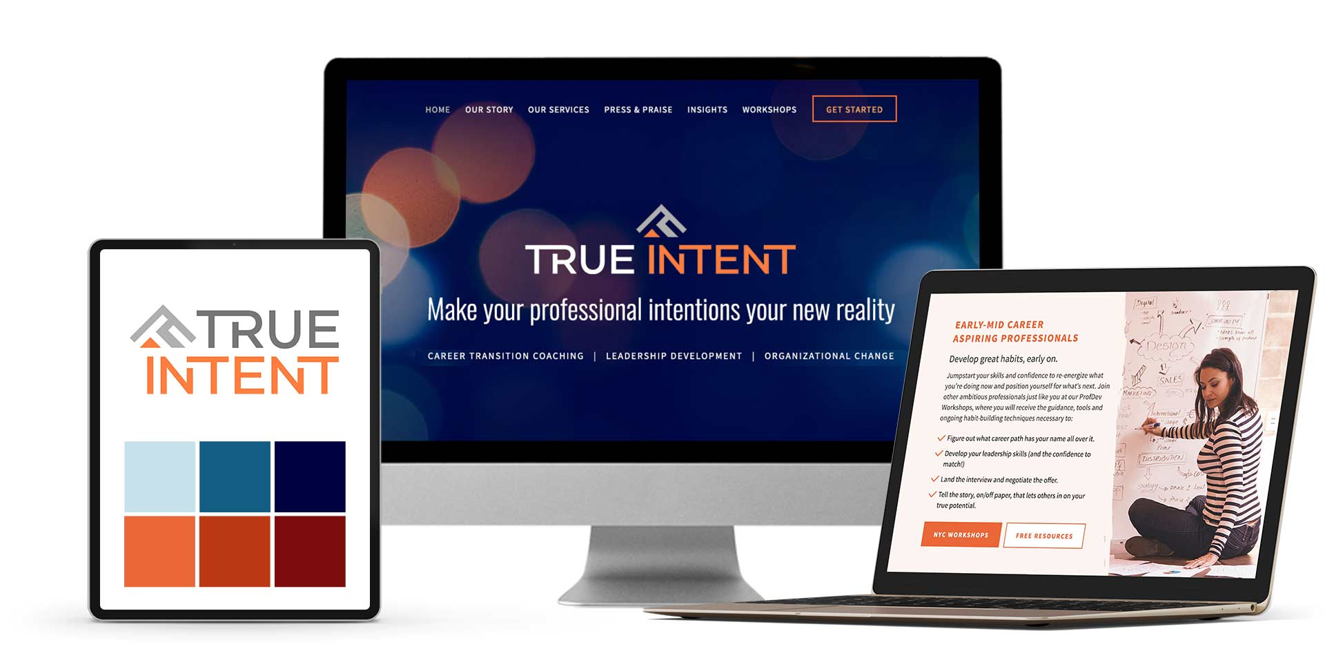 Website & branding True Intent with Alice Carleton