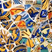 A city living in color of broken mosaics