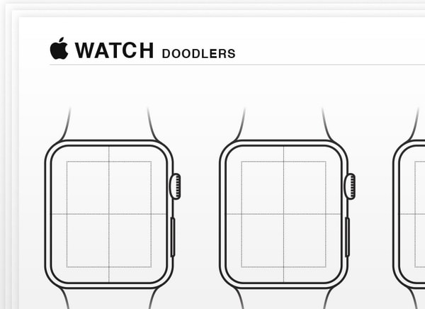 GUIs, Wireframes and Sketch Templates for Apple Watch Apps