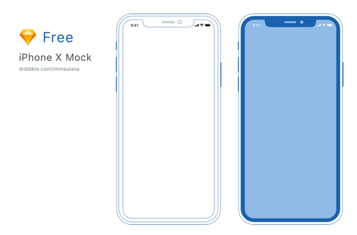 Screen Outline Iphone X Wallpaper Without Notch Free Iphone X Xs Xr Mockups Psd Sketch Ai Adobe Xd