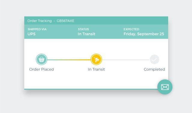 Order tracking progress