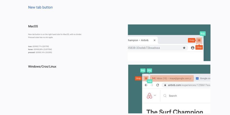 Chrome Material Design Refresh New Tab