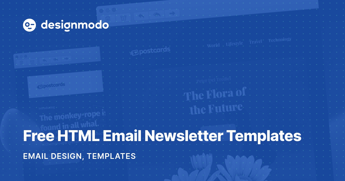 This aligns with how email templates render; Free Html Email Newsletter Templates Designmodo
