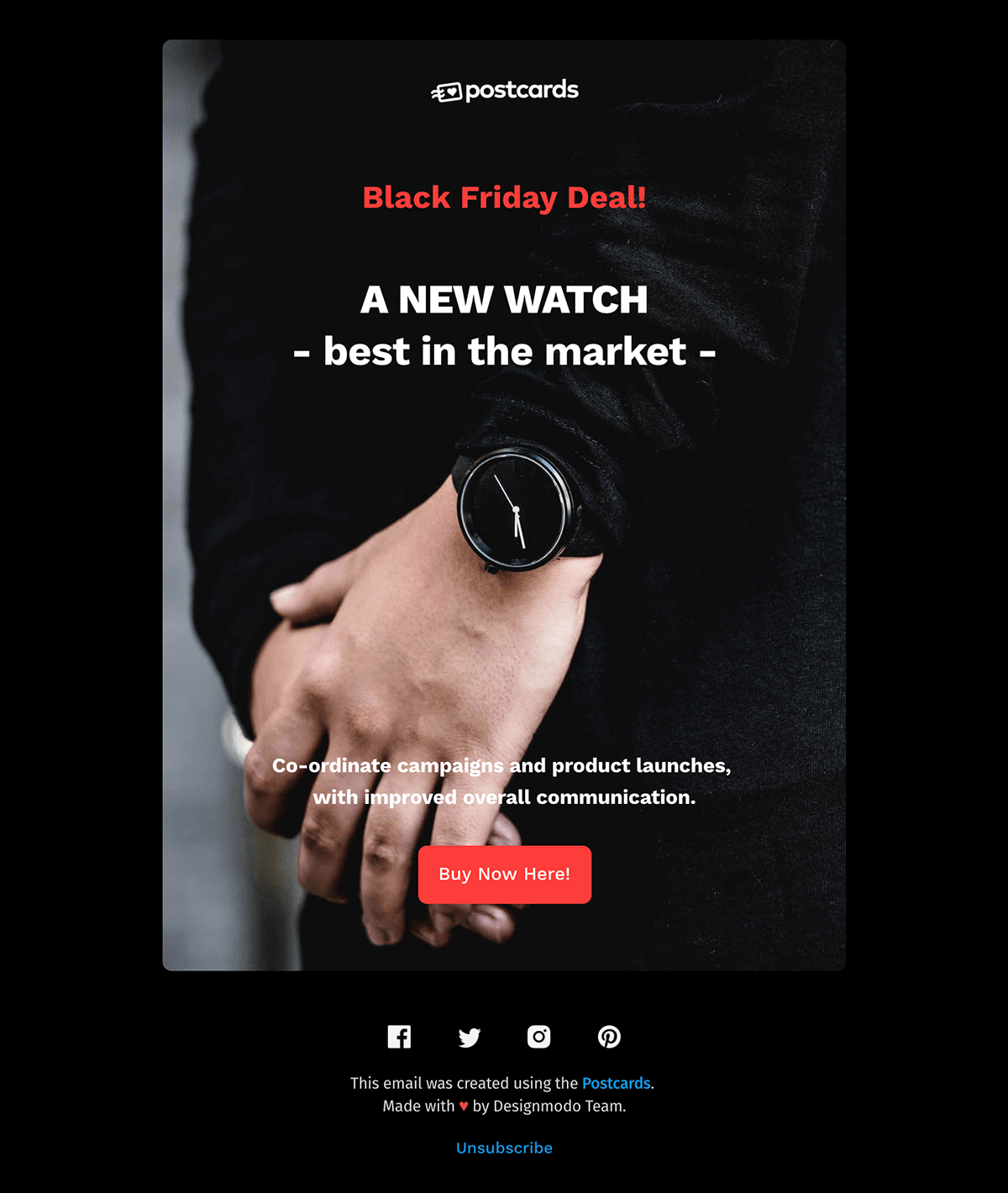 Yellow professional gradient app development email newsletter. Free Black Friday Html Email Newsletter Template For Download