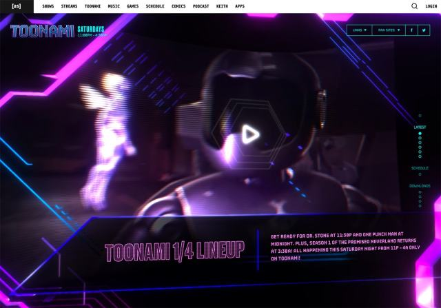 toonami - Top Trends for web Design and UI  for 2020