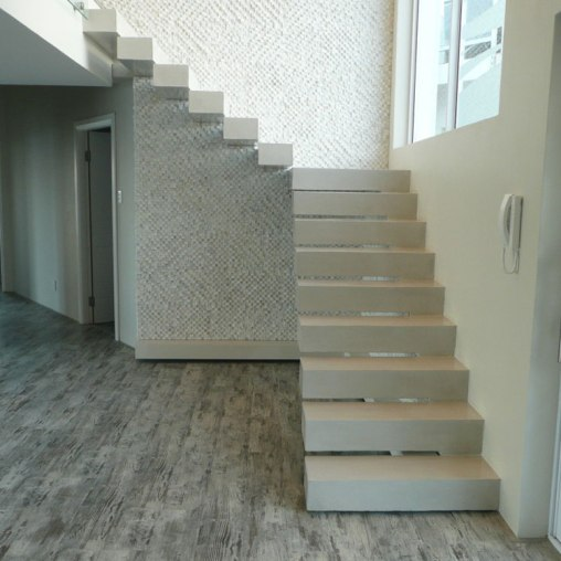 Beach House - Cantilevered Concrete Staircase