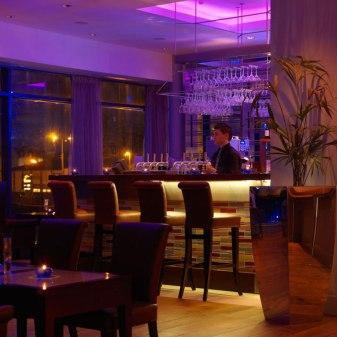 Absolute Hotel Interiors, Limerick - Bar at Night