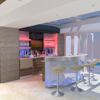 Penthouse Villa - Bar 3D