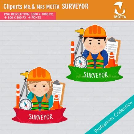 ClipArts Design Profession Surveyor