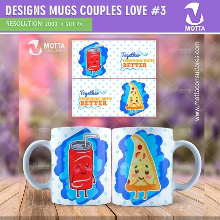 DESIGN FOR SUBLIMATION OF MUGS COUPLES LOVE