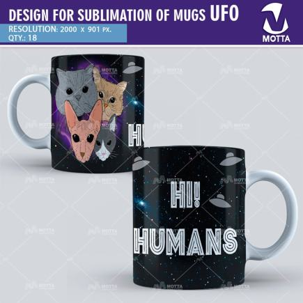 DESIGN FOR SUBLIMATION OF MUGS UFO