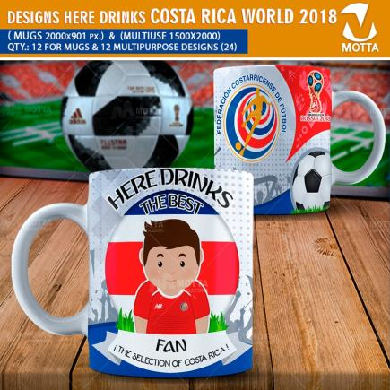 DESIGNS THE BEST FAN OF COSTA RICA IN RUSSIA 2018