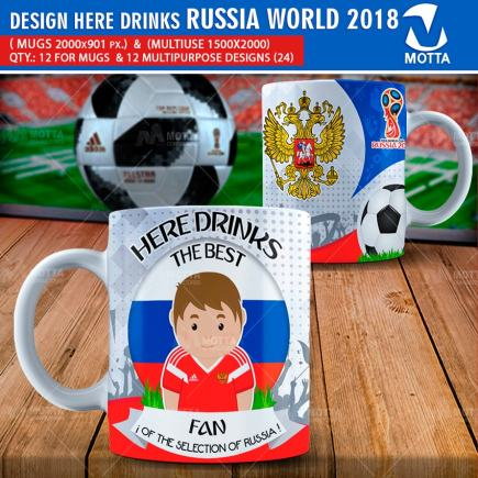 DESIGNS THE BEST FAN OF RUSSIA FIFA 2018