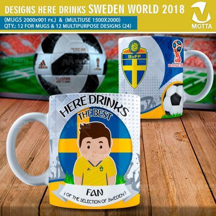 DESIGNS THE BEST FAN OF SWEDEN FIFA 2018