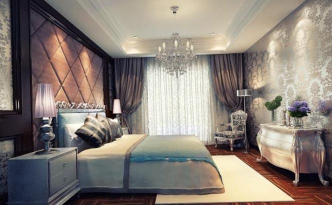 дизайн потолков в спальне 3