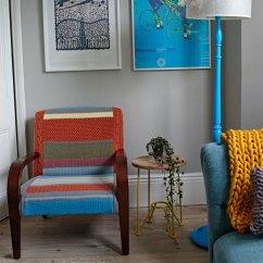 Knitted Revolving Chair Wood Frame Beach Chairs Melanie Porter Design Nation